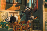 Po and Wolf Boss in ``Kung Fu Panda 2.''
