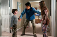 Will Shadley as Ian, Jackie Chan as Bob Ho and Madeline Carroll as Farren in