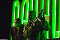 Willa Holland as Audrey and Tyrese Gibson as Kyle in