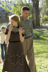 Jessica Chastain as Mrs. O'Brien and Brad Pitt as Mr. O'Brien in ``The Tree of Life.''