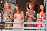 Kim Cattrall as Samantha, Sarah Jessica Parker as Carrie, Cynthia Nixon as Miranda and Kristin Davis as Charlotte in