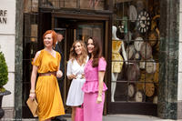 Cynthia Nixon as Miranda, Sarah Jessica Parker as Carrie and Kristin Davis as Charlotte in