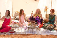 Kristin Davis as Charlotte, Sarah Jessica Parker as Carrie, Kim Cattrall as Samantha and Cynthia Nixon as Miranda in