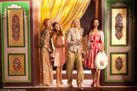 Cynthia Nixon as Miranda, Sarah Jessica Parker as Carrie, Kim Cattrall as Samantha and Kristin Davis as Charlotte in