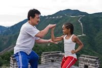 Jackie Chan as Mr. Han and Jaden Smith as Dre in