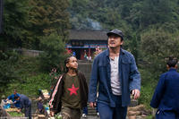 Jaden Smith as Dre and Jackie Chan as Mr. Han in