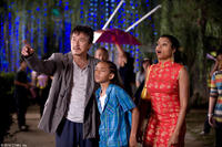 Jackie Chan as Mr. Han, Jaden Smith as Dre and Taraji P. Henson as Sherry in