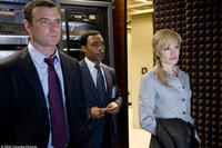Liev Schreiber as Ted Winter, Chiwetel Ejiofor as Peabody and Angelina Jolie as Evelyn Salt in