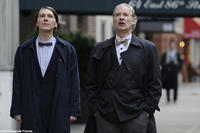 Paul Dano as Louis and Kevin Kline as Henry in