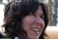 Director-writer Debra Granik on the set of