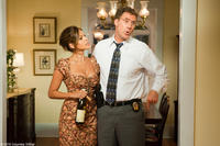 """Eva Mendes as Sheila Gamble and Will Ferrell as Det. Allen Gamble in """"The Other Guys."""""""
