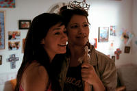 Aimee Garcia as Carmen Salgado and Gina Rodriguez as Gina Esperanza in ``Go For It.''