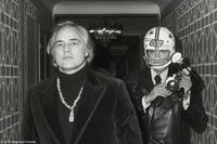 Marlon Brando and Ron Galella in