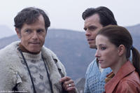 Bruce Greenwood as Ben Stevenson, Steven Heathcote as Bobby Cordner and Camilla Vergotis as Mary in