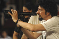 Director Radu Mihaileanu on the set of