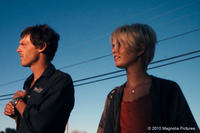 Scoot McNairy as Kaulder and Whitney Able as Sam in