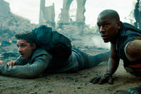 Shia LaBeouf as Sam Witwicky and Tyrese Gibson as Robert Epps in ``Transformers: Dark of the Moon.''