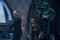 Hugo Weaving as Johann Schmidt and Toby Jones as Dr. Arnim Zola in