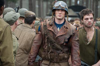 Chris Evans as Steve Rogers and Sebastian Stan as James 'Bucky' Barnes in ``Captain America: The First Avenger.''