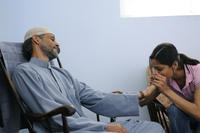 Alexander Siddig as Jamal and Freida Pinto as Miral in ``Miral.''
