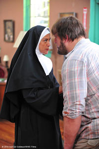 Wendie Malick as Sister Francesca and Paul ``Big Show'' Wight as Walter in