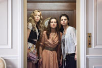 Katie Cassidy as Emma, Leighton Meester as Meg and Selena Gomez as Grace in ``Monte Carlo.''
