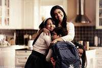 Kajol as Maya with Nominath Ginsburg as Ankush and Diya Sonecha as Anjali in