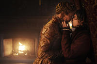Joely Richardson as Queen Elizabeth I and Jamie Campbell Bower as Earl of Oxford in ``Anonymous.''