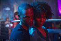 Anthony Mackie as Harold Jackson and Liya Kebede as Waris Dirie in ``Desert Flower.''