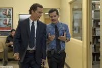 Matthew McConaughey as Mickey Haller and John Leguizamo as Val Valenzuela in ``The Lincoln Lawyer.''