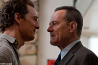 Matthew McConaughey as Mickey Haller and Bryan Cranston as Detective Lankford in ``The Lincoln Lawyer.''