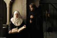 Barbara Sukowa as Hildegard von Bingen and Heino Ferch as Brother Volmar in