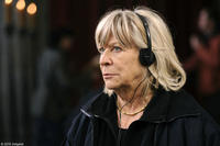 Filmmaker Margarethe von Trotta on the set of