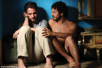 Cristian Mercado as Miguel and Manolo Cardona as Santiago in ``Undertow.''