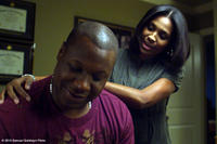 Michael Higgenbottom as Sam Wright and Dawntoya Thomason as Debra Wright in  ``The Grace Card.''