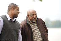 Michael Higgenbottom as Sam Wright and Louis Gossett Jr. as George Wright in ``The Grace Card.''