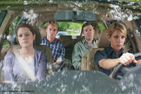 Jenna Fischer as Maggie, Owen Wilson as Rick, Jason Sudeikis as Fred and Christina Applegate as Grace in ``Hall Pass.''