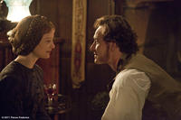Mia Wasikowska as Jane Eyre and Michael Fassbender as Mr. Rochester in ``Jane Eyre.''