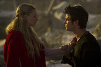 Amanda Seyfried as Valerie and Shiloh Fernandez as Peter in ``Red Riding Hood.''