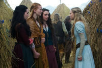 Carmen Lavigne as Rose, Shauna Kain as Roxanne, Kacey Rohl as Prudence and Amanda Seyfried as Valerie in ``Red Riding Hood.''