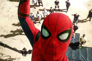 Spider-Man Shares a Selfie from High Above the Set of 'Spider-Man: Homecoming'