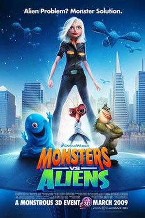 Monsters vs. Aliens 3D poster