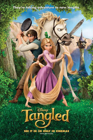 Tangled 3D poster