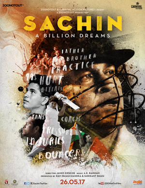 Sachin - A Billion Dreams poster