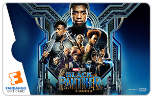 Fandango gift cards movie gift cards movie gift certificates black panther group movie gift card negle Images