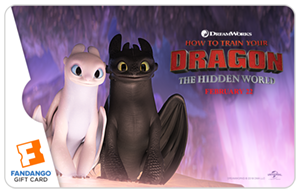 Light Fury Toothless Movie Gift Card