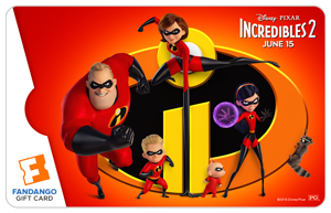 Incredibles Pixar Gift Card
