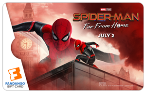 Spiderman Far From Home Gift Card
