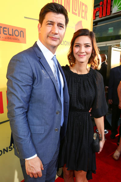 How to be a latin lover fandango ken marino and erica oyama at the california premiere of how to be a latin ccuart Image collections