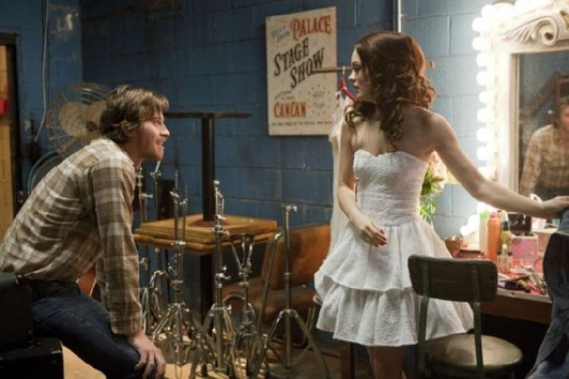 """Garrett Hedlund as Beau and Leighton Meester as Chiles in """"Country Strong."""""""